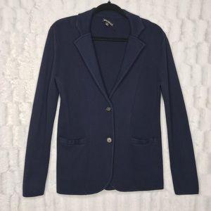 J. Crew Mercantile Navy Blue Sweater Knit Blazer